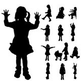 Vector silhouette of a girl. Royalty Free Stock Image