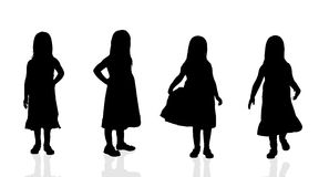 Vector silhouette of a girl. Stock Photography