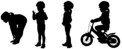 Vector silhouette of a girl. Stock Images