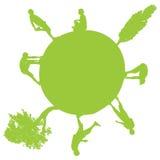 Vector silhouette of globe. Stock Image