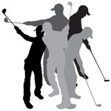 Vector silhouette golf. Royalty Free Stock Image