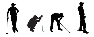 vector silhouette golf Royalty Free Stock Photo