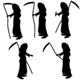 Vector silhouette of Grim Reaper. Royalty Free Stock Photo