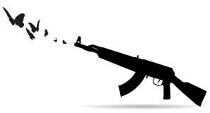 Vector silhouette of a gun. Royalty Free Stock Photo