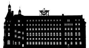 Vector silhouette of Haydarpasa railway terminal Stock Photos