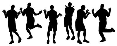 Vector silhouette of homosexual. Stock Photos