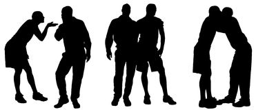 Vector silhouette of homosexual. Royalty Free Stock Image
