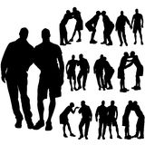 Vector silhouette of homosexual. Royalty Free Stock Photos