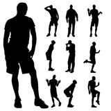 Vector silhouette of homosexual. Stock Images