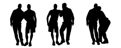 Vector silhouette of homosexual. Stock Photo