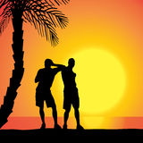 Vector silhouette of homosexuals. Royalty Free Stock Image