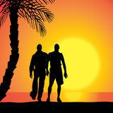 Vector silhouette of homosexuals. Royalty Free Stock Photos