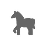 Vector silhouette of a horse icon Stock Photography