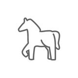 Vector silhouette of a horse icon Royalty Free Stock Photo