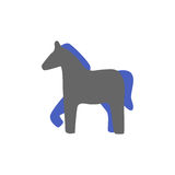 Vector silhouette of a horse icon Royalty Free Stock Images
