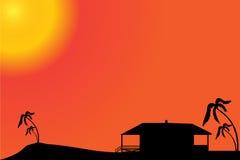 Vector silhouette of a house. Stock Photos