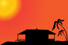 Vector silhouette of a house. Stock Image
