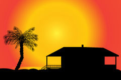 Vector silhouette of a house. Stock Images