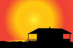 Vector silhouette of a house. Royalty Free Stock Image