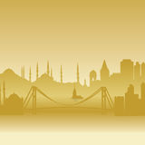 vector silhouette of Istanbul Royalty Free Stock Image