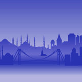 Vector silhouette of Istanbul Stock Photo
