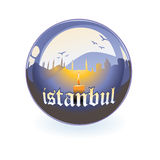 vector Silhouette of Istanbul royalty free stock photos
