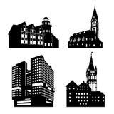 Vector silhouette of Kaliningrad landmarks Royalty Free Stock Photos