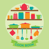 Vector silhouette of kitchen tools Royalty Free Stock Photography