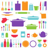 Vector silhouette of kitchen tools Royalty Free Stock Photo