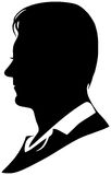 Vector silhouette of man Royalty Free Stock Photo
