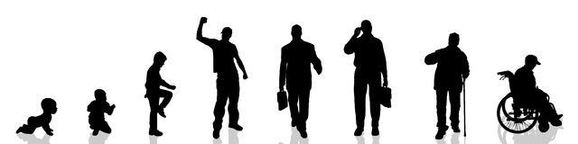 Vector silhouette of man. Royalty Free Stock Images