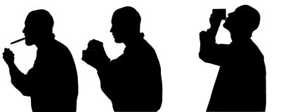 Vector silhouette of man. Royalty Free Stock Photos