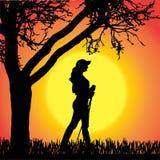 Vector silhouette of man. Stock Photos