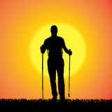 Vector silhouette of man. Royalty Free Stock Photography