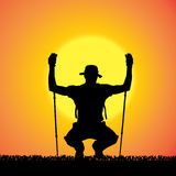 Vector silhouette of man. Royalty Free Stock Photo
