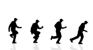 Vector silhouette of a man running. Vector silhouette of a man running on a white background Royalty Free Stock Images