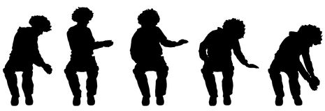 Vector silhouette of a man. Royalty Free Stock Images