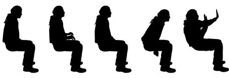 Vector silhouette of a man. Royalty Free Stock Photo