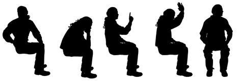 Vector silhouette of a man. Stock Photos