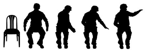 Vector silhouette of a man. Royalty Free Stock Image