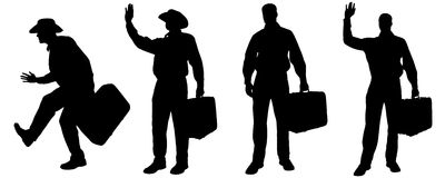Vector silhouette of a man Stock Photo
