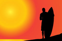 Vector silhouette of a man. Stock Photography