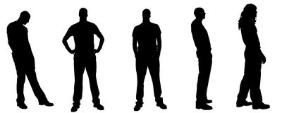 Vector silhouette of a man Royalty Free Stock Images