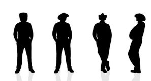 Vector silhouette  of man. Vector silhouette of man on white background Royalty Free Stock Photo