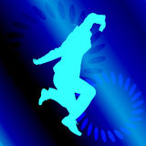 Vector silhouette of a man who dances. Stock Photo