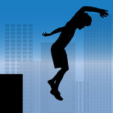 Vector silhouette of a man. Royalty Free Stock Photography