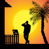Vector silhouette of man. Royalty Free Stock Image