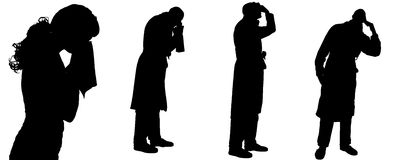 Vector silhouette of a man. Stock Images