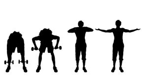 Vector silhouette of a man. Royalty Free Stock Photos
