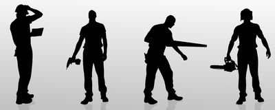 Vector silhouette of a man. royalty free illustration